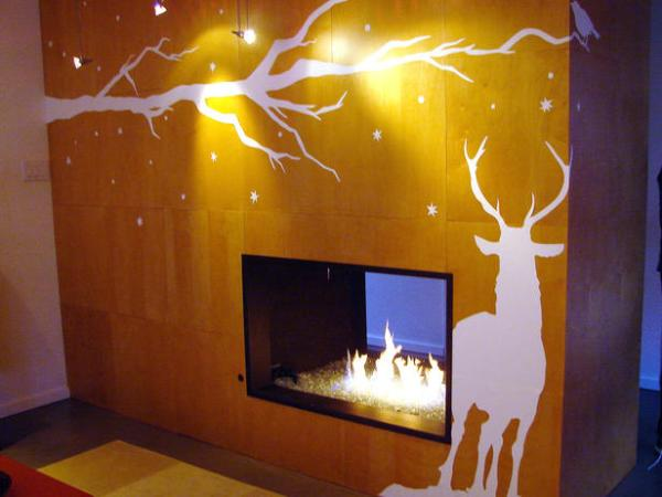 You can create a custom wall decal of a snowy, winter scene.