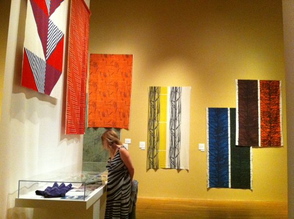 Lucienne Day's fabrics on display at the Textile Museum in Washington, D.C.
