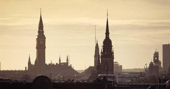 Copenhagen's skyline.