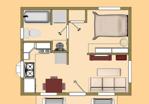 Small floorplans can be difficult to arrange and organize.