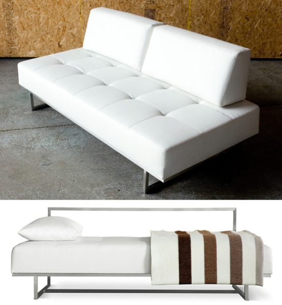 GUS Modern's James Sleeper functions as a stylish sofa, and a bed.