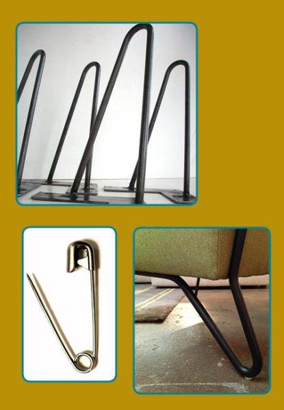 The hairpin leg.  Bottom left photo: Soco chair from NEST Modern