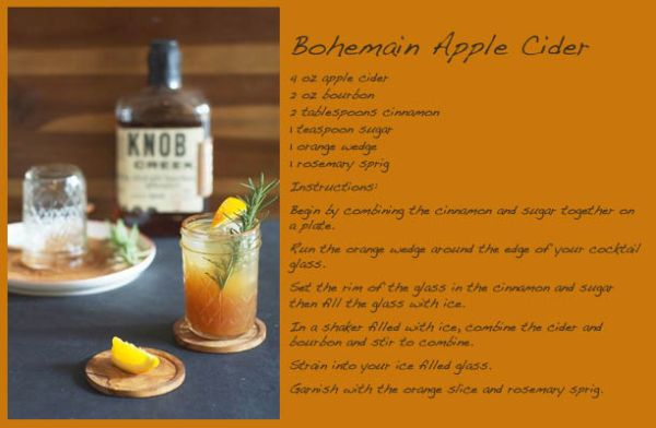 Serve apple cider into any glass available.  Garnish with herbs and fruit to provide extra flavor, and atmosphere.