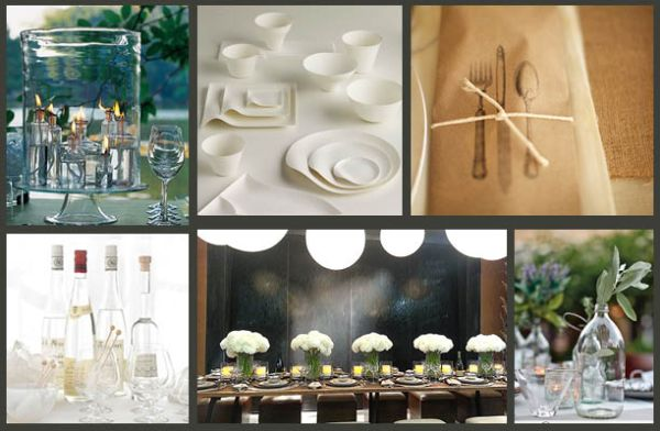 Clean lines, simple color palettes, and less is more provide sophistication for a Thanksgiving gathering.