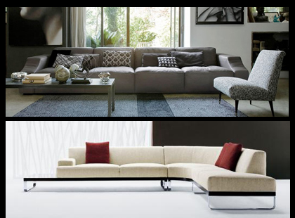 The Omari sectional from Gamma, and the Sodeo sectional from DellaRobbia.  Both have quality construction with high-end materials.