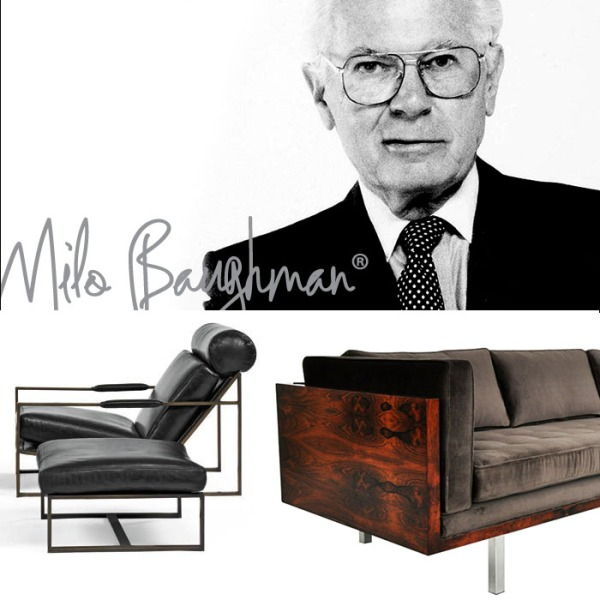 Milo Baughman was inspired by Hollywood Regency glamour.  He set out to make modern designs that were attainable for the average American.