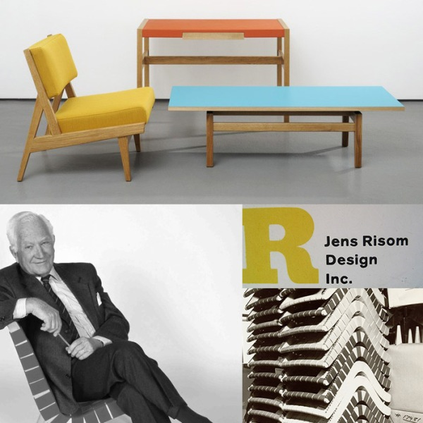 Jens Risom was born and trained as a designer in Denmark. He moved to the states in 1939 and helped bring Scandinavian design to the states.