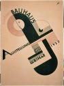 A poster of a Bauhaus exhibit from 1923.