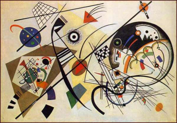 Kandinsky, a well known artist, taught at the Bauhaus from 1922 until it was closed in 1933
