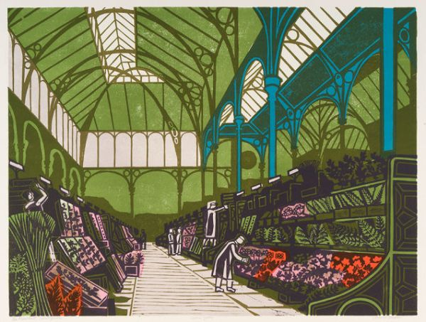 The Floral Hall, Covenant Garden - Edward Bawden, 1967