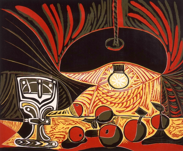 Still Life Under the Lamp - Pablo Picasso, 1962