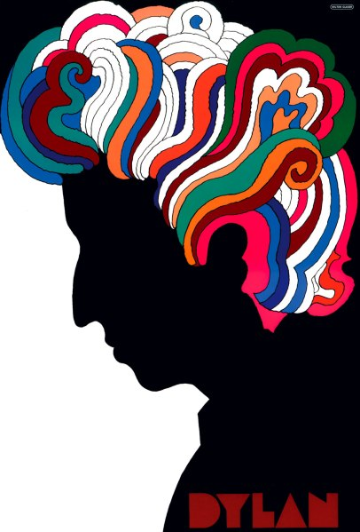 Glaser created this iconic Dylan poster to be folded up and distributed with his Greatest Hits album.