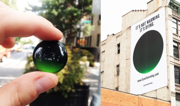 """Milton Glaser created the  """"It's Not Warming, It's Dying"""" campaign to bring awareness to climate change."""