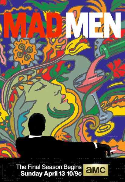 """The Mad Men poster designed by Glaser.  ...""""what it's about is the material and the immaterial world, and that's what I loved."""""""