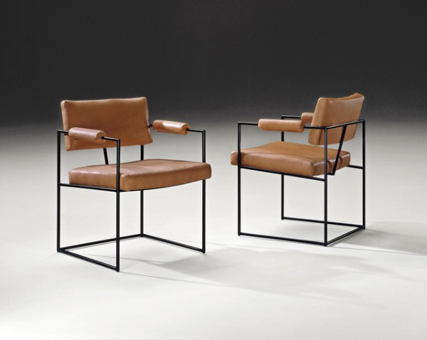 Milo Baughman midcentury dining chairs are twee.
